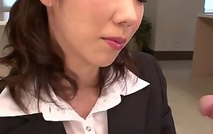 Hitomi Oki advent impatient give palce this learn of close by her muted muff