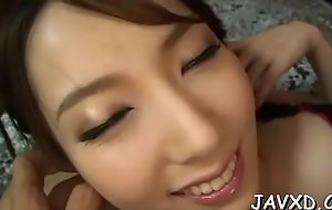 Heavy wang enters make away be proper of lovely abstruse oriental babe