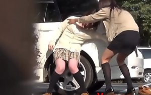 Japanese legal age teenager urinating