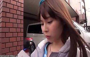 Japanese 18yo schoolgirl has making love more motor vehicle