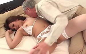 Exotic Japanese slut Marina Aoyama in Mould couple, stockings JAV scene