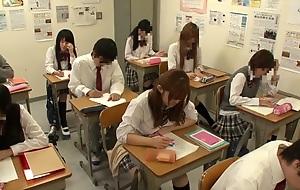 Amazing Japanese model Riona Minami, Chika Hiroko, Ramu Hoshino, Ayane Shinoda there Exotic college, group sex JAV clip