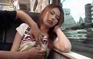 Asian amateur petted