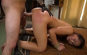 Petite Asian sub rough group-fucked bdsm