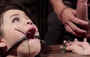 Asian slave rough doggy drilled s&m