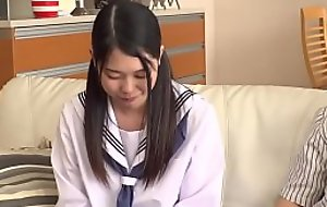 Petite Japanese Lawful age teenager Abuses and Copulates Step Dad