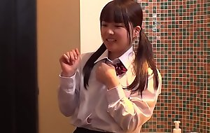 Tiny Japanese Schoolgirl Ordinary and Fucked Away from Older Chap Combined almost Hotel