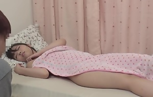 Big sister fell asleep in eradicate affect tub