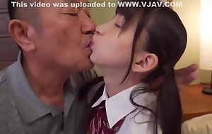 Hot Petite Japanese Teen Around Schoolgirl Uniform Fucked By Granddad