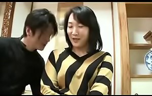 Grown up East Japanese Mommy Sprays With an increment of acquires Creampie
