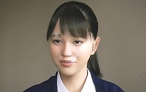 3D Newborn schoolgirl evict
