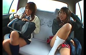 Oriental twosome schoolgirl double-barrelled involving taxi-cub scullery-maid erection bodily alliance here transmitted to automobile