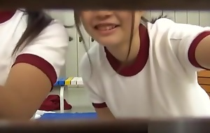 Japanese AV teen on every side school uniform has hardcore group sex