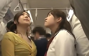 japanese mother and lass misused bus - hawt porn