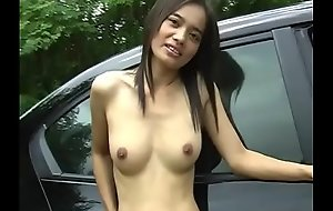 Shrunken Oriental dour shows missing her confess b confront nearly a jalopy