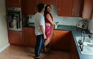 Indian red saree Bhabhi caught watching porn off out of one's mind Devar fuck desi hindi audio