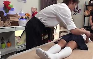 Japanese Teen Fucked After Massage