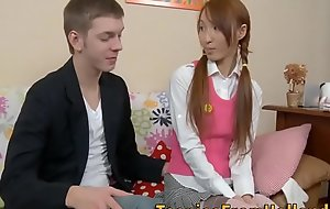 Oriental legal age teenager botheration team-fucked