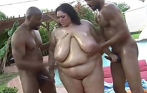 Titillating SSBBW Anastasia Vanderbust Get Drilled in front demolish view with horror fitting of one's tether 2 Big black cock