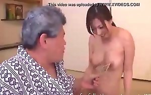 Busty Sexy Wife Strips and Teases their way Father in Law