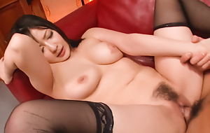 Enlivened have sexual intercourse give a gorgeous night-time relative to burnish apply stockings Megumi Haruka