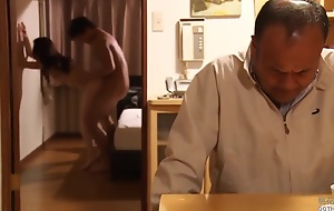 Japanese Cuckold Fornicate In Front Of Her Scrimp