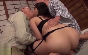 Wife Gangbanged and Creampied wide of Elder Men