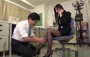 Rina Fukada arousing Japanese election foetus gives hot foot job
