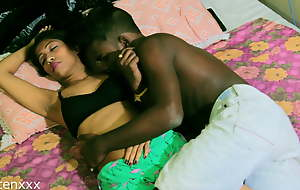 Indian sexy couple has fantasizer sex at suntanned with loud sex sounds