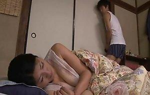 Japanese sleepy old woman